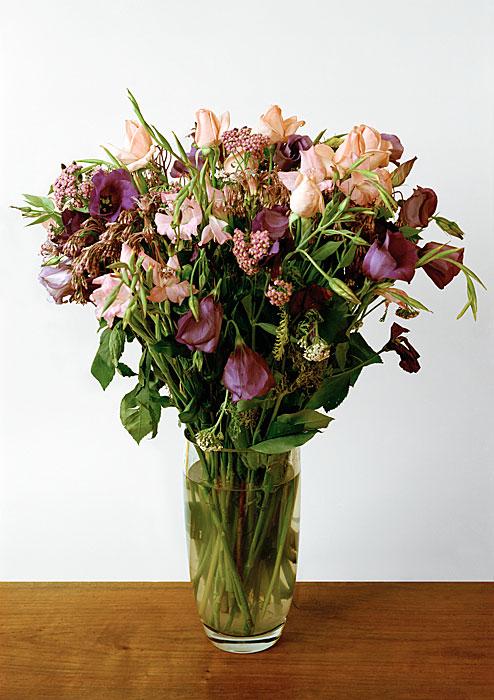 Flowers 15 | Verwelkter Bumenstrauß | 160x120 cm | 1998